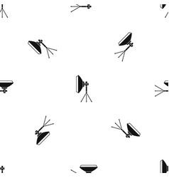 studio lighting equipment pattern seamless black vector image vector image