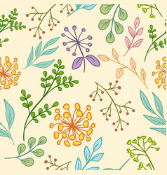 floral pattern color seamless vector image vector image