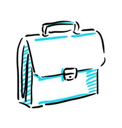 Office bag sketch vector image