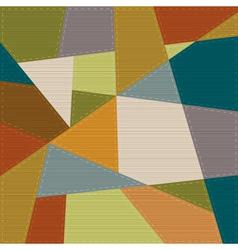 Retro geometric background vector image