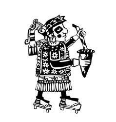 Shaman of tribe makes ritual vector image
