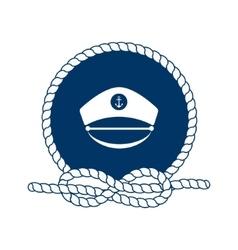 Symbol of sailors sail cruise and sea vector image