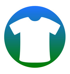 t-shirt sign white icon in bluish circle vector image vector image