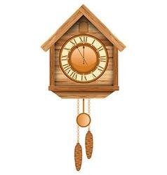 Wooden clock vector image vector image
