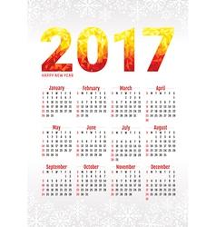2017 office calendar vector image