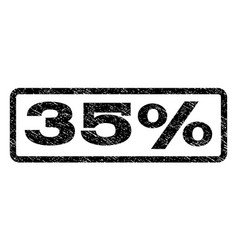 35 percent watermark stamp vector image