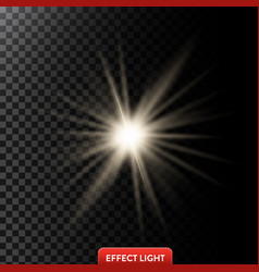 A glowing light effect with vector