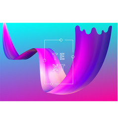 Abstract liquid flow design bright color motion vector