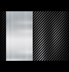 abstract metallic frame carbon kevlar texture vector image