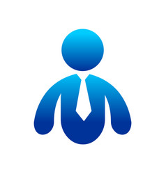 abstract professional business man blue vector image
