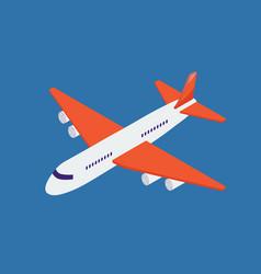 Airplane isometric vector