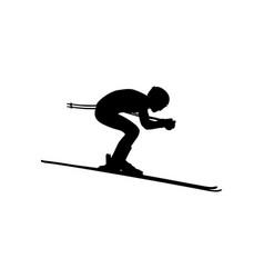 alpine skiing men downhill vector image