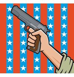 american pistol vector image vector image
