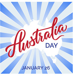 australia day text greeting card vector image