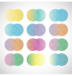 Background with palette vector image