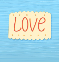 Background with the word love vector
