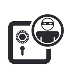 bank thief icon vector image