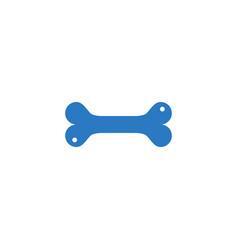 bone related glyph icon vector image