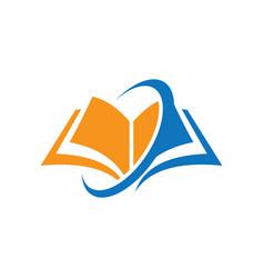 Book education arrow logo vector