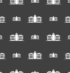 Business center icon sign Seamless pattern on a vector image
