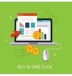 Buy in one click concept art vector