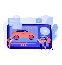 Car review video concept vector