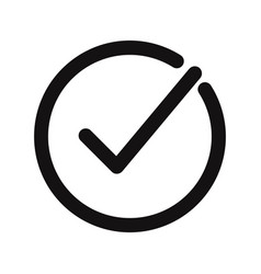 check mark icon correcttick symbol vector image