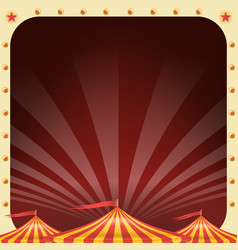 Circus poster circus tent background vector
