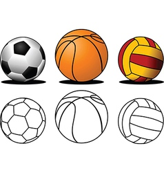 Collection of balls vector