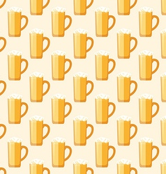 colored beer mug seamless pattern vector image