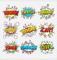 Comic bubbles funny comics words in speech bubble vector
