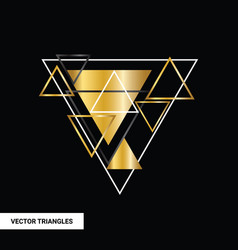 concept gold polygon dynamic modern arts template vector image