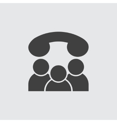 Conference call icon vector