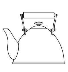 Contour teapot vector