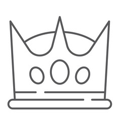 crown thin line icon king and leader royal sign vector image
