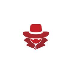 detective human head logo vector image