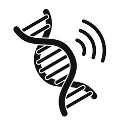 Dna authentication icon simple style vector