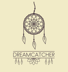 dreamcatcher design element with text vector image