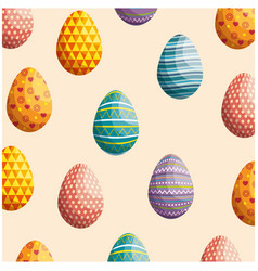 eggs easter background vector image