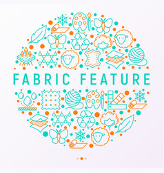 Fabric feature concept in circle vector