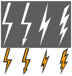 flat lightning signs vector image