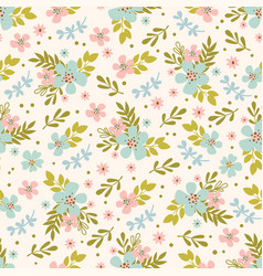 floral bed hand drawn seamless pattern vector image