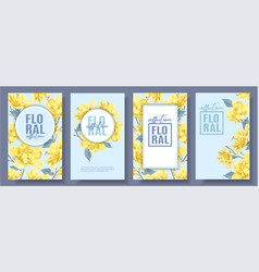 Flower banners set vector