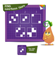 Game find superfluous figure vector