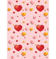 Gentle hearts on the pink seamless background vector image