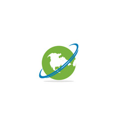 globe earth logo vector image