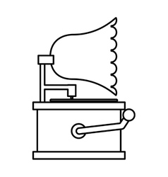 gramophone sound device icon vector image