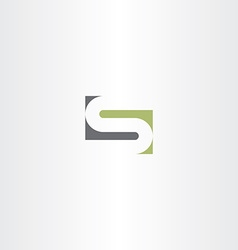 green gray letter s stylized design vector image