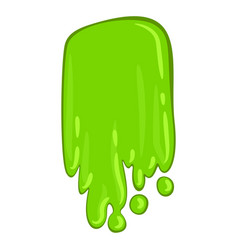 green slime icon bright scary paint spot vector image