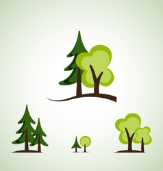 Green trees vector